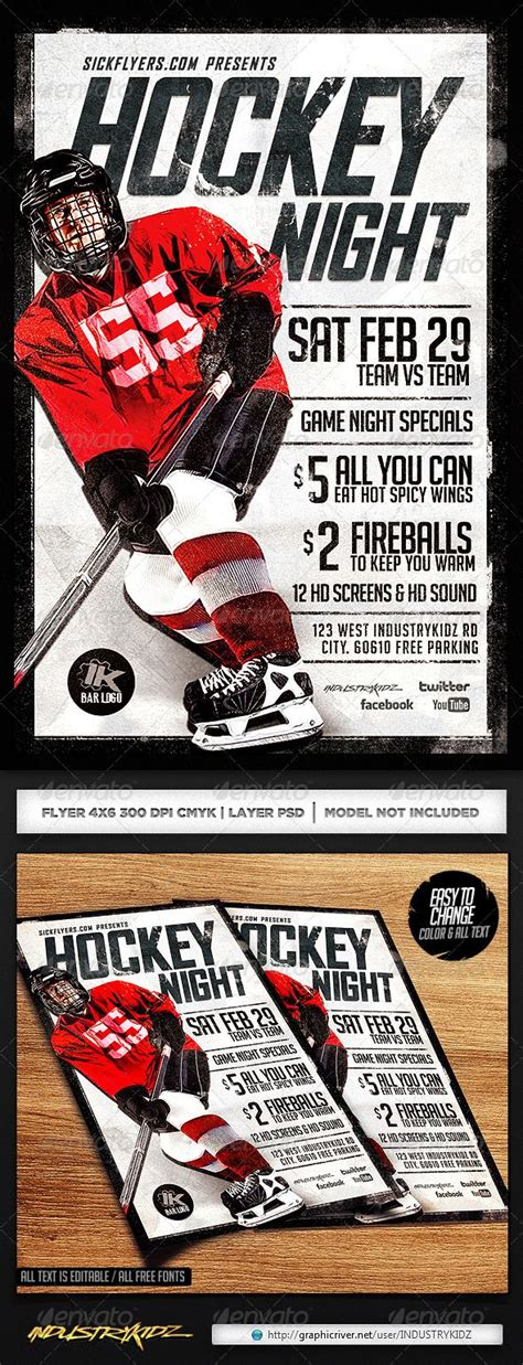 hockey flyer template hockey flyer template canada hockey and