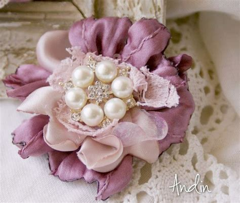 17 best images about ribbon flowers on pinterest fabric flower tutorial shabby chic and