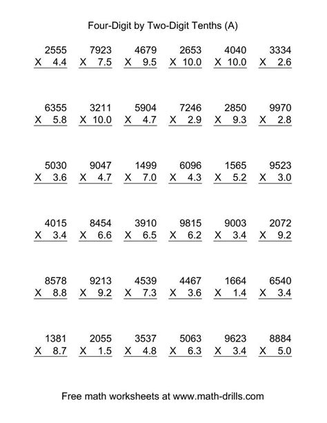 math worksheets for 6th graders worksheet mogenk paper works
