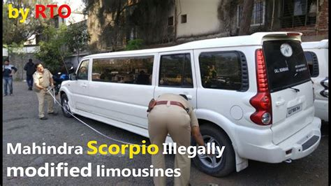 New Limousine Car by Mahindra Scorpio Illegally Modified Limousines Seized By