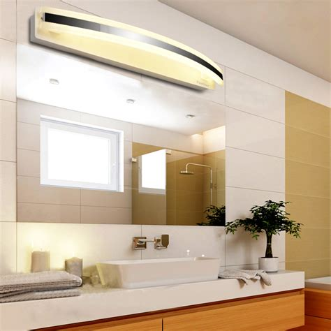 waterproof bathroom lights modern 12w warm white bathroom mirror light front led