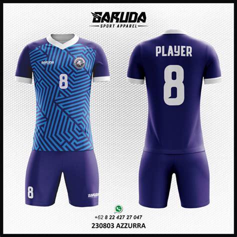 desain baju futsal biru desain baju futsal sepakbola azzurra garuda print