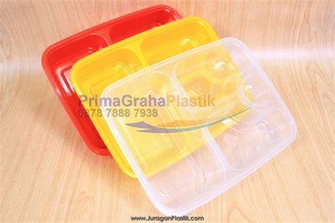 fim kotak oven 4 sekat microwaveable freezer merah