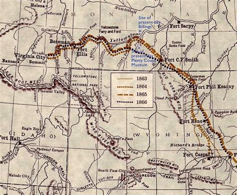 bozeman trail map events in history lakota sioux