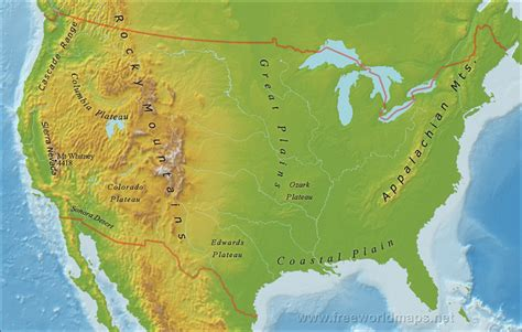 map of america mountains rivers in the united states map cruise guide