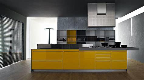 valcucine kitchen artematica multiline i giallo senape fitted kitchens
