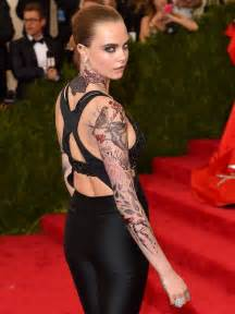 were any of cara delevingne s intricate met gala tattoos