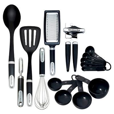 KitchenAid® Tools and Gadgets 15pc in Set Black : Target