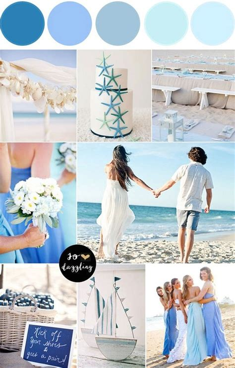 colour themes for beach wedding blue combination color beach wedding themes bridalore