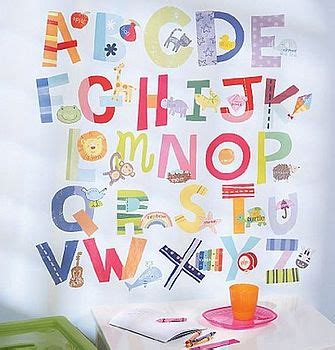 alphabet stickers for walls bright alphabet wall stickers by letteroom