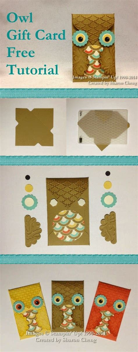 carding tutorial free sharing creativity and company owl gift card holder with