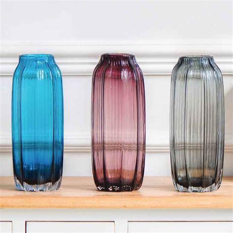 floreros de cristal por mayor florero de cristal rojo y azul al por mayor barato jarrones
