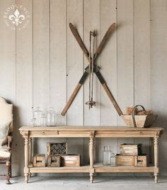 great exles of rustic wall art furniture home finally able to mount skis without damage great ideas