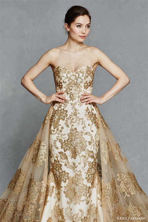 gold color dress faetanini 2017 wedding dresses wedding