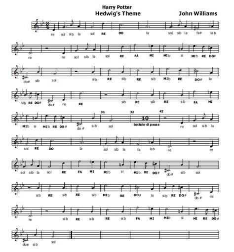 il clarinetto testo spartiti harry potter pianoforte fare di una mosca