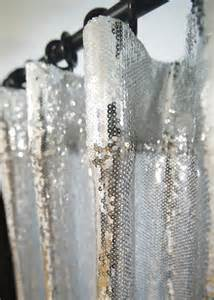 Silver Glitter Curtains Handmade Silver Sequins Drops Single Curtain Glitter Drapery Panel Made To Order Ebay