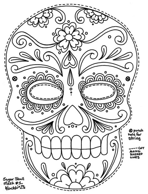 day of the dead skull template day of the dead skull coloring pages bestofcoloring