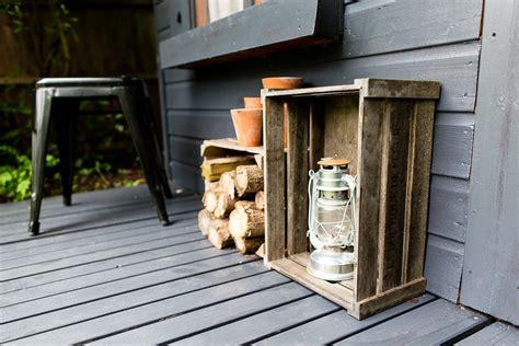 dark grey shed makeover  cuprinol urban slate garden paint