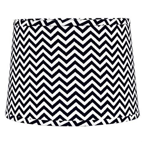black and white drum l shade 10 inch black and white chevron drum l shade by raghu