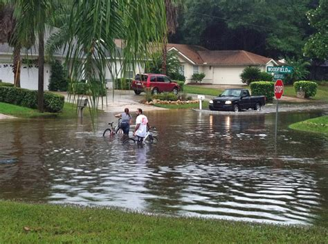 Palm Coast Sections by Palm Coast Flooding Closes Barrington Dr And Part Of