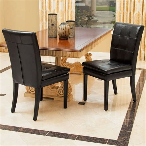 leather dining room chairs set of 2 dining room furniture black leather dining chairs