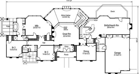 Atrium Ranch House Plans by 4 Bedroom 3 Bath Ranch House Plan Alp 09ef Allplans