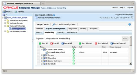 tutorial oracle enterprise manager 11g so how does enterprise manager work within obiee 11g