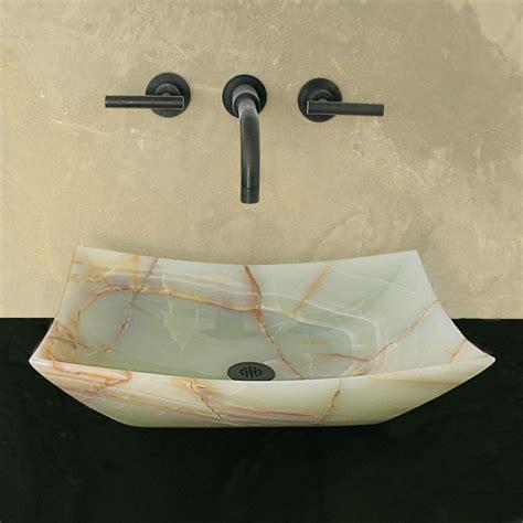 green bathroom sink shop terra acqua montecito green onyx vessel