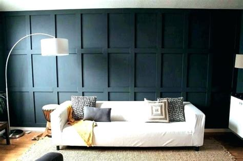 board  batten boxed accent wall blue sheds quebec