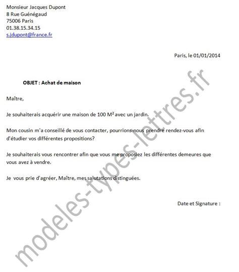 Modèle De Lettre Pour Un Notaire Exemple De Lettre A Un Notaire