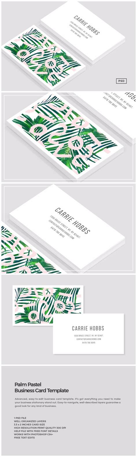 palm card template photoshop rapidshare pastel business card 187 designtube creative