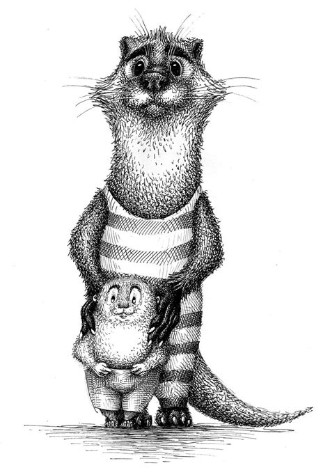 The Wind in the Willows - Otter and Portly by nik159 on