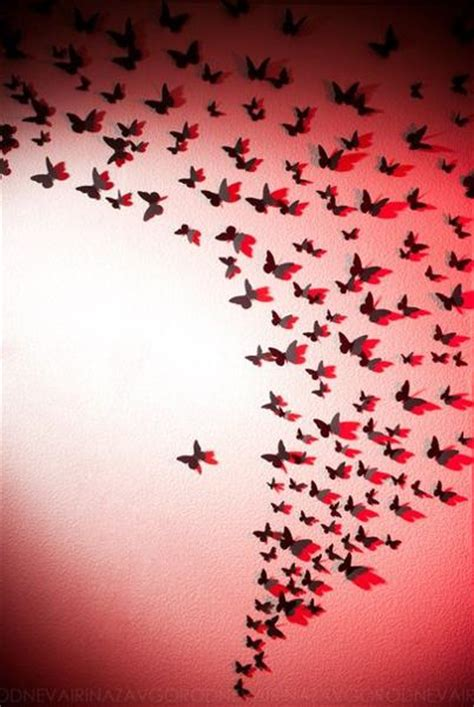 Handmade Wall Decoration - handmade butterflies decorations on walls paper craft ideas