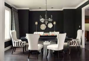 White And Black Dining Room Table Black White And Grey Living Room Decor With Striped Chairs And Large Dining Table Decoist