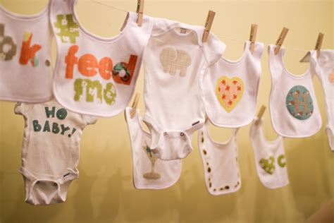 Baby Shower Decorate Onesies by Setting Up Onesie Decorating At A Baby Shower Pepperknit