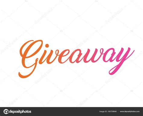 Giveaway Synonym - colorful gradient isolated hand writing word giveaway stock vector 169 cougarsan