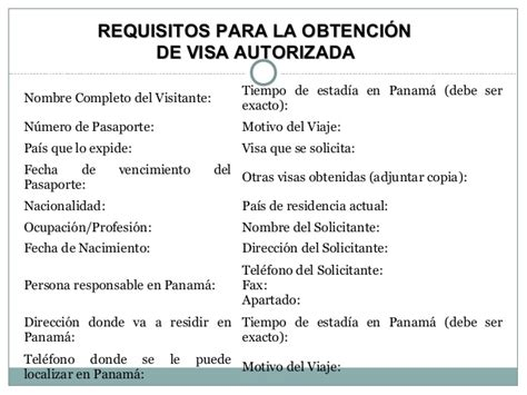 Visas De Turista En Panama Requisitos Extension De Visa De | curso introductorio de derecho migratorio