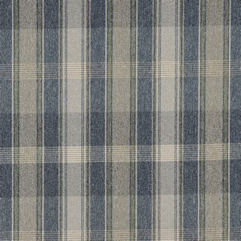blue plaid upholstery fabric blue green and ivory large plaid country tweed upholstery
