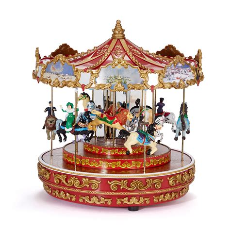 mr christmas triple decker carousel musical gump s