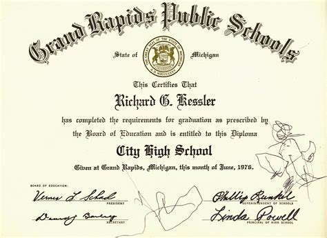 high school graduation certificate template city high school graduation certificate history grand rapids