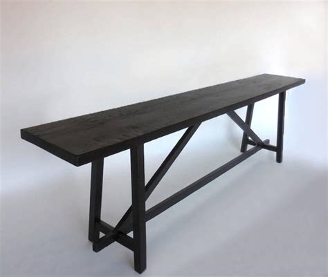 sofa back console dos gallos custom reclaimed wood sofa back table or