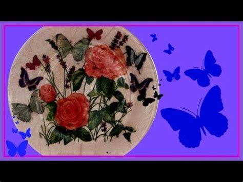 tutorial decoupage en vidrio decoupage sobre vidrio plato decorado tutorial diy