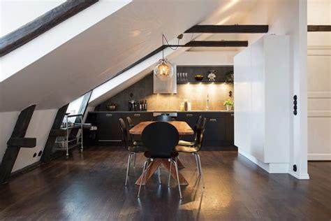 cuisine mansard馥 appartement scandinave mansard 233