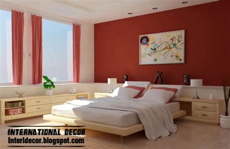 Red Bedroom Color Schemes | interior design 2014 latest bedroom color schemes and