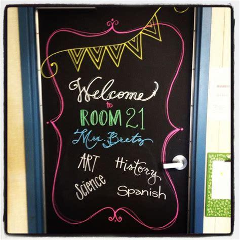 Classroom Door Chalkboard Paint And Markers School