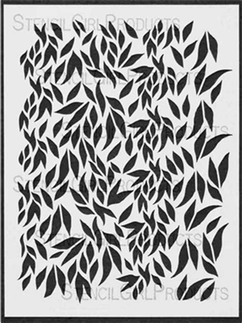 cascading leaves stencil