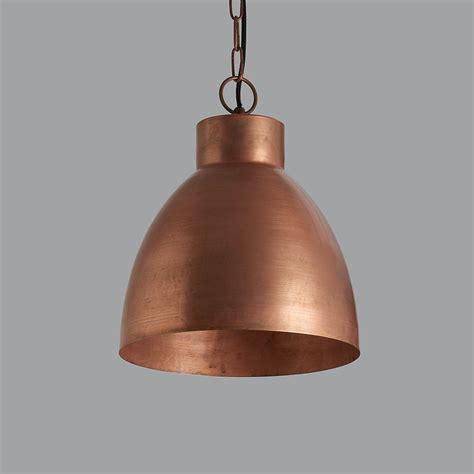 large copper pendant light vintage copper pendant light