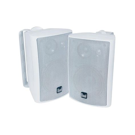 dual 100 watt 3 way indoor outdoor speakers lu43pw the