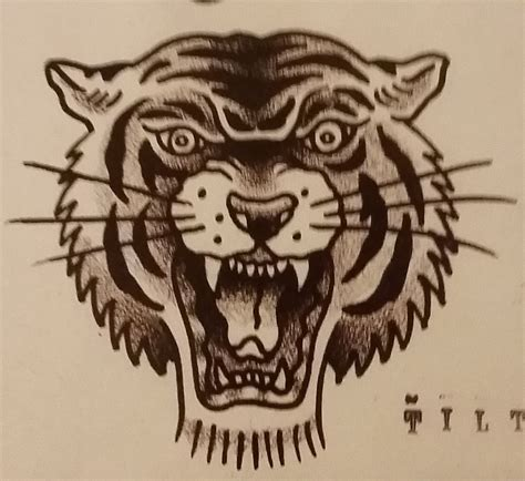 traditional tiger head tattoo traditional school jeromey quot tilt quot mcculloch