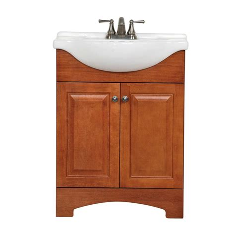 glacier bay bathroom glacier bay chelsea 25 in w bath vanity in nutmeg with
